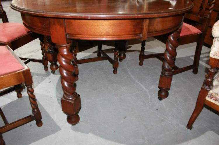 Circular oak dining table Home bargains furniture uk