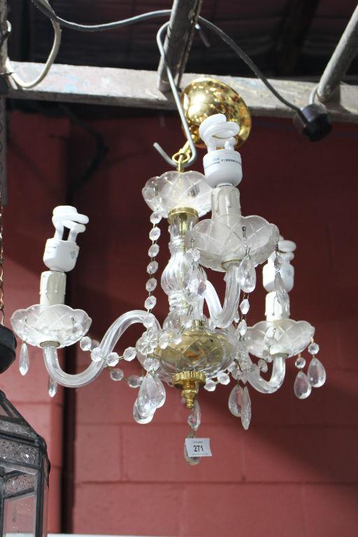 3 branch hanging chandelier. Black Bedroom Furniture Sets. Home Design Ideas