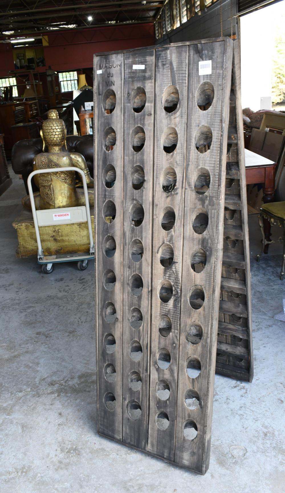 French style foldable cedar wine rack