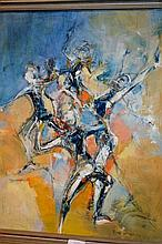 Susan Sheridan oil on board, 'The Dancers' signed