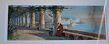 Gianni Italian watercolour of a Friar sitting