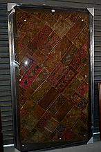 Large framed vintage North Indian tribal patchwork