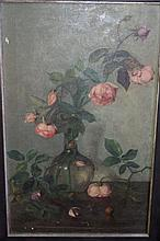 Artist unknown antique oil on canvas, interior