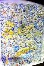 Salvatore Zofrea hand coloured etching, 'Bird