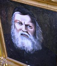 Artist unknown , oil on canvas, portrait of a