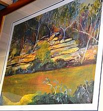Neroli Weaver lim/ed offset lithograph, 'Lane Cove