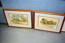 Gwen Robertson pair of watercolours 'Old home,