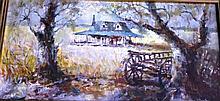 Aubrey Eden Stapleton oil on board, 'Country House