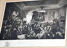 Charles Ewart etching 'The inauguration of Robert