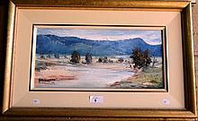 May Rochford oil on board 'Landscape scene with