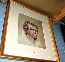 Aubrey Eden Stapleton oil on card, 'Portrait of a