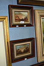 Jim Crofts 2 small oil paintings on board, one of