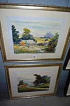 Henry Harrison - pair of watercolours 'Patricia's
