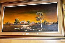 Hugo Kobald oil on board 'Gundagai' signed, titled