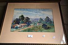 Albert N. Clarke watercolour of a rural landscape,