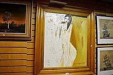 Mas Dibyo (Indonesia) acrylic on canvas, portrait