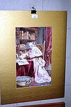 Ettore Simonetti (Italian 1857-1909), watercolour,