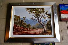 Pat Murphy oil on board 'Heading for Mudgee'