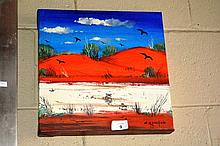 Colleen Parker oil on canvas, outback scene with