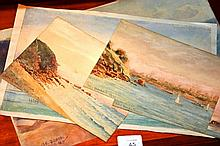 W.G. Rendall series of 4 watercolours, largest one