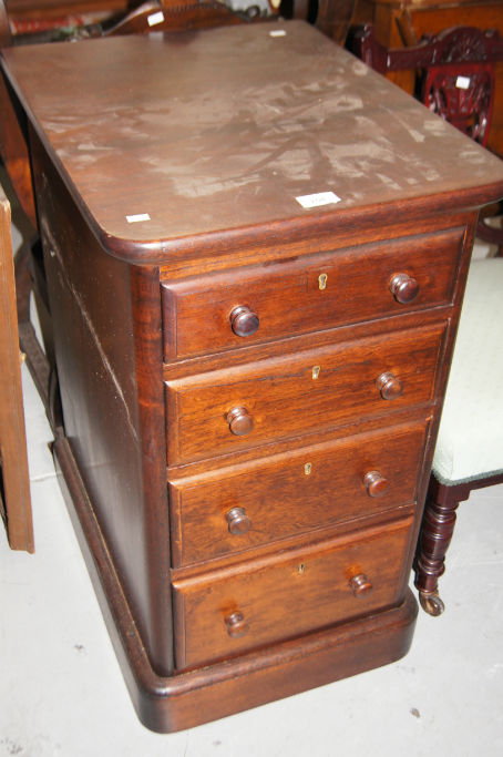 Antique Cedar Bedside Chest Of 4 Drawers