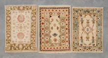 3 Afghan Chobi rugs, all pure wool & hand made,