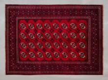 Vintage Afghan Turkmen pure wool, hand made rug