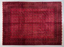 Afghan pure wool, hand made tukmen rug