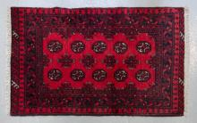 Afghan pure wool, hand made Turkmen rug