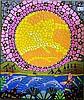 James P. Simon, acrylic on canvas, aboriginal dot, James Simon, Click for value