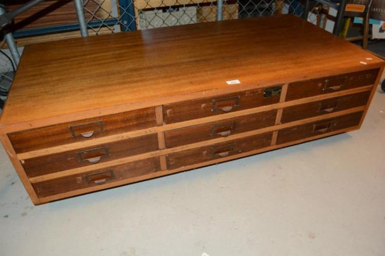 9 drawer oak chest on castors Home bargains furniture uk
