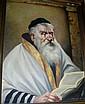 Daminy? oil on board 'Rabbi', signed LR, 75x57cm