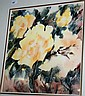 Dorothy De Haas watercolour of hibiscus, signed