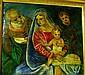 R. Lamarini, Oil & tempera on timber, 'Madonna &