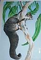 Linda Ingram watercolour on paper, 'Ringtail