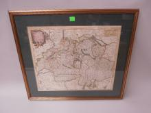 Framed Map of Swiss Republic