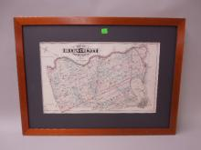 Framed Map of Bucks County