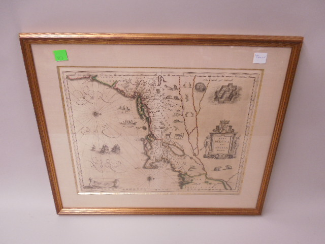 Framed Map of New Netherland