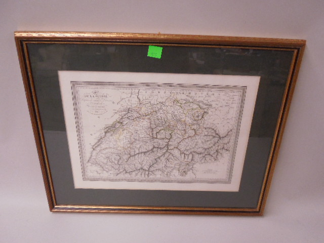 Framed Map of Switzerland