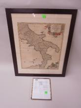 Framed Map Regnum Neapolis