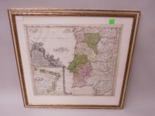 Framed Map Portugallia et Algarbia