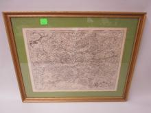 Framed Map Hannonia Namurcum