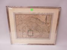 Framed Map Old Italy