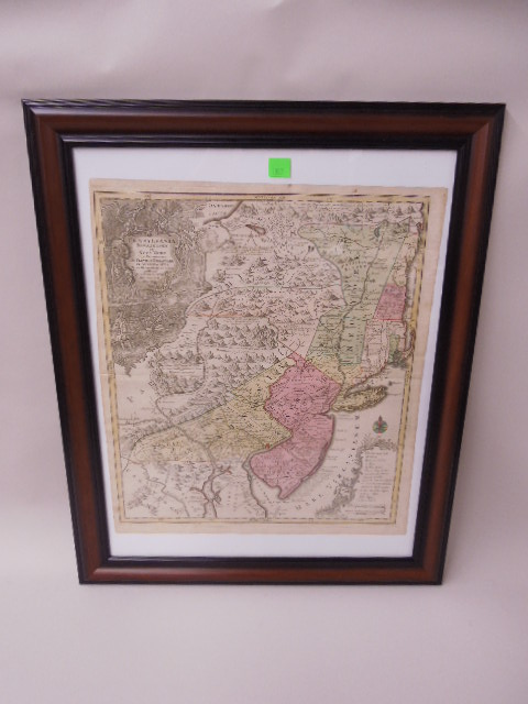 Framed Map Penna, NJ & NY