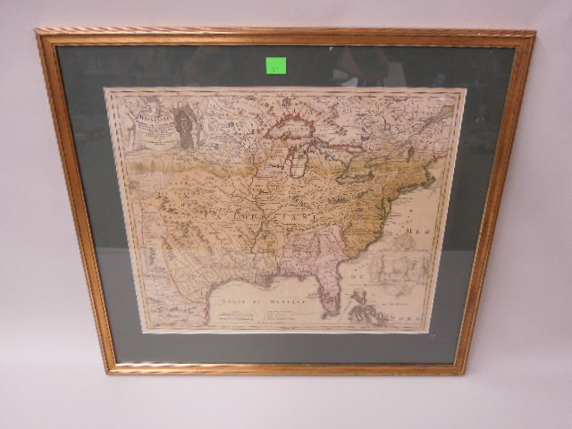 Framed Map Province of Mississippi