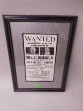 Chas. Lindbergh, Jr. Wanted Poster