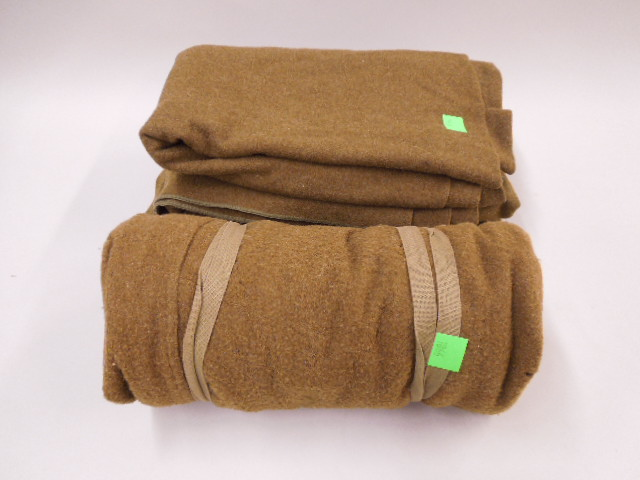 3 WW II US Army Blankets