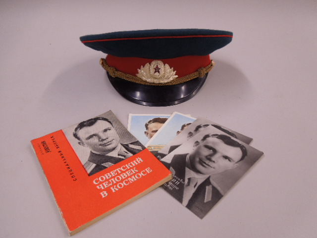 Russian Military Cap, Booklet & Postcards