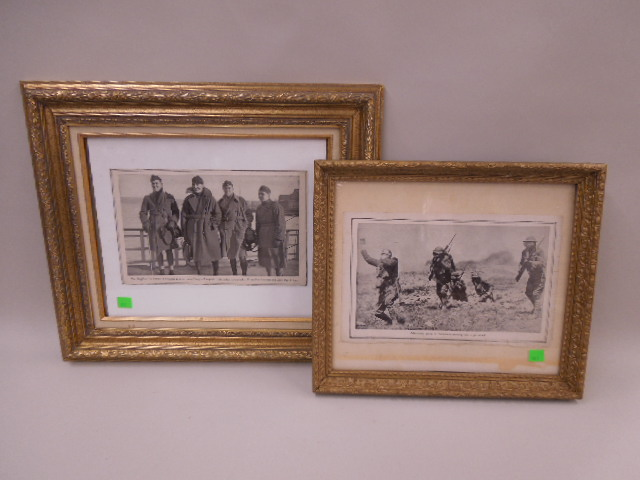 4 Framed WW I Photos From Book