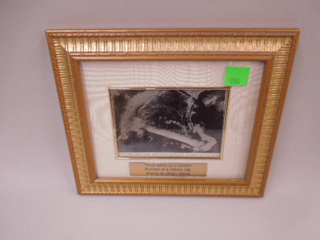 Framed Photo of Japanese Airstrip on Uman Island